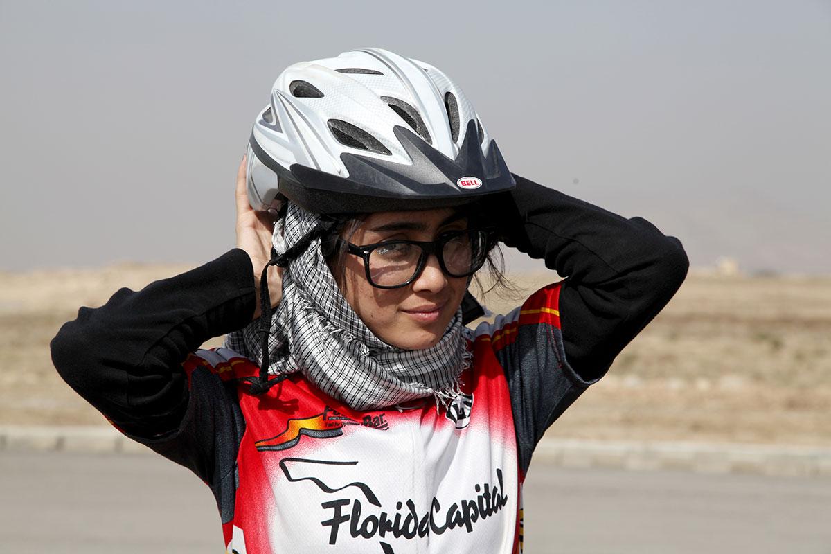 Una delle componenti del Team Nazionale Afgano // Foto: Mariam Alimi