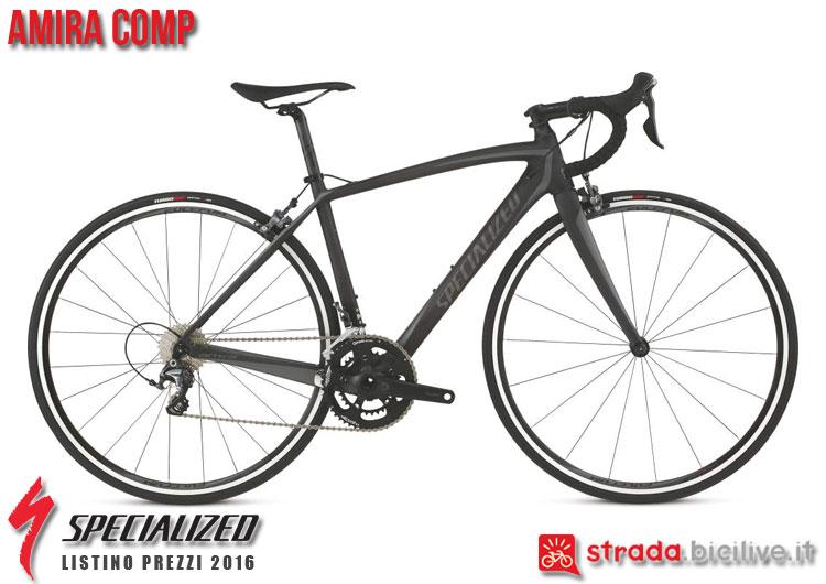 La foto della bici da strada Amira Comp Specialized sul catalogo e listino prezzi 2016