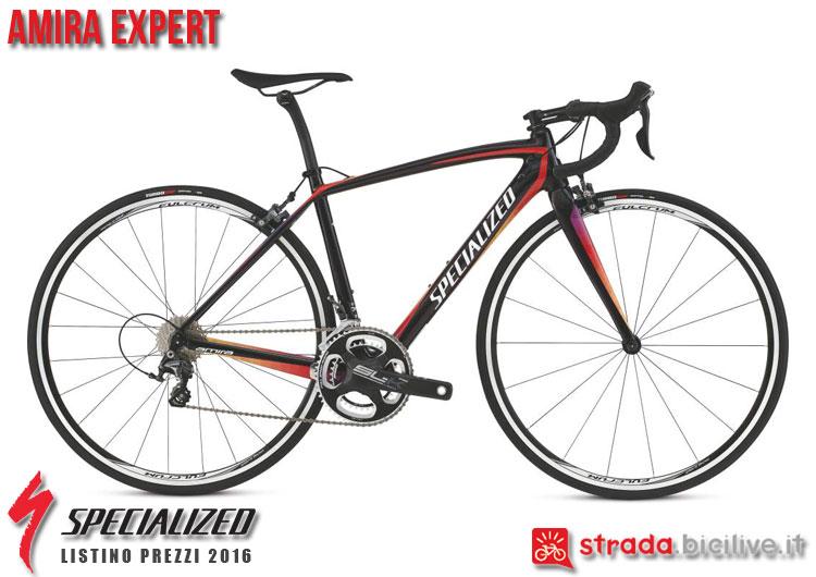 La foto della bici da strada Amira Expert Specialized sul catalogo e listino prezzi 2016