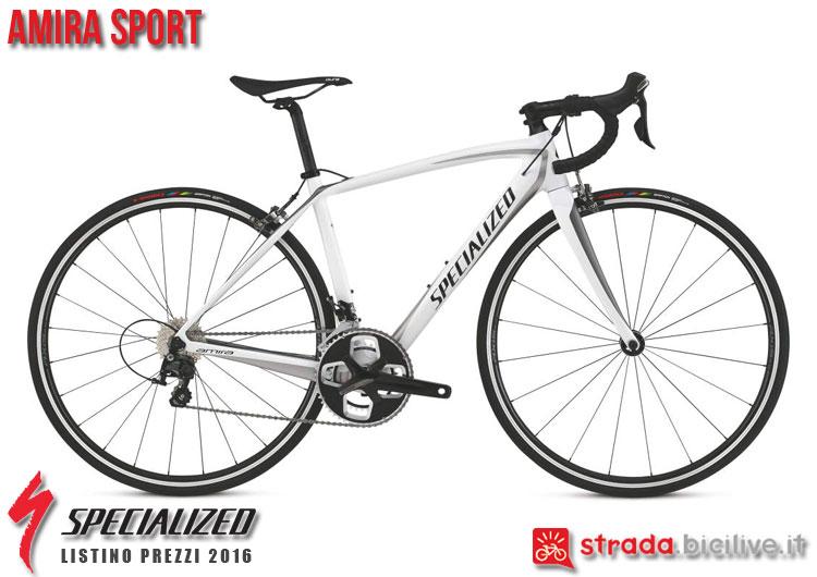 La foto della bici da strada Amira Sport Specialized sul catalogo e listino prezzi 2016