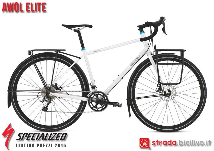 La foto della bici da strada AWOL Elite Specialized sul catalogo e listino prezzi 2016