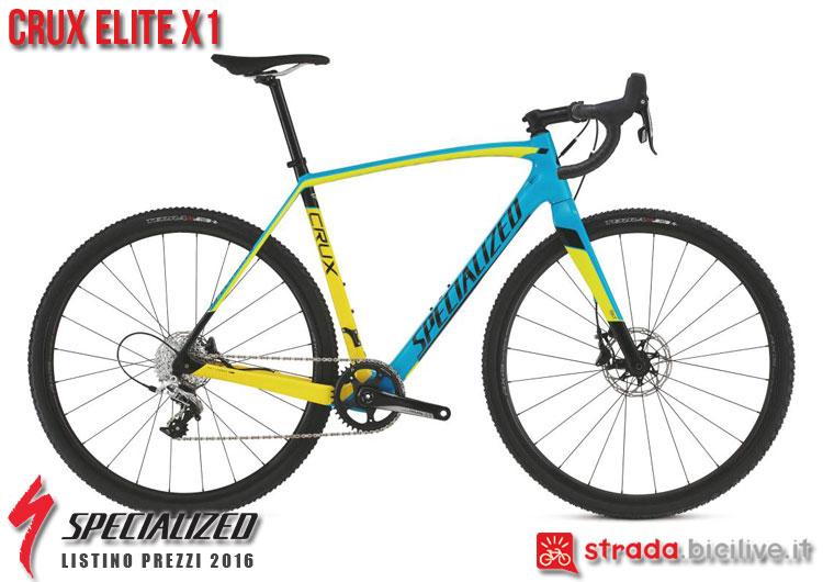 La foto della bici da strada CruX Elite X1 Specialized sul catalogo e listino prezzi 2016