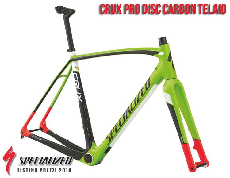 La foto del telaio CruX Pro Disc Carbon Specialized sul catalogo e listino prezzi 2016
