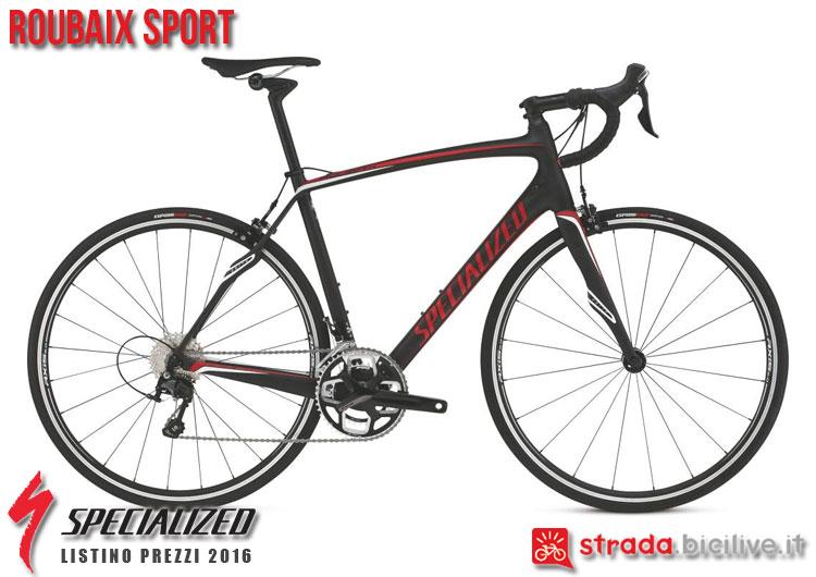 La foto della bici da strada Roubaix Sport Specialized sul catalogo e listino prezzi 2016