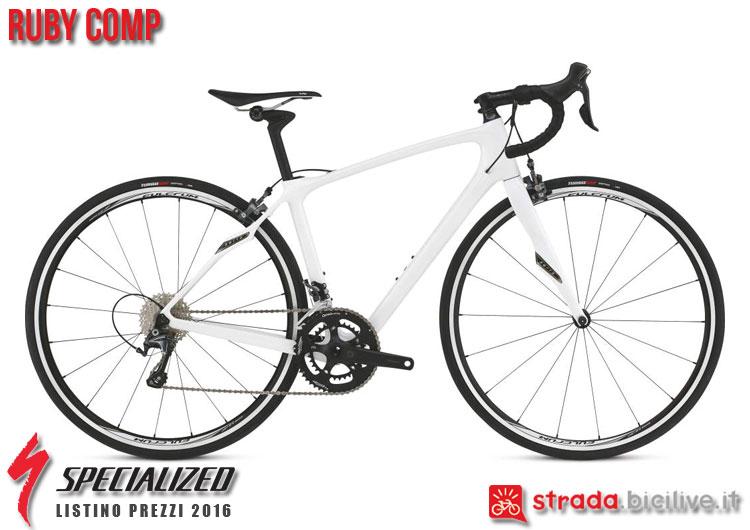 La foto della bici da strada Ruby Comp Specialized sul catalogo e listino prezzi 2016