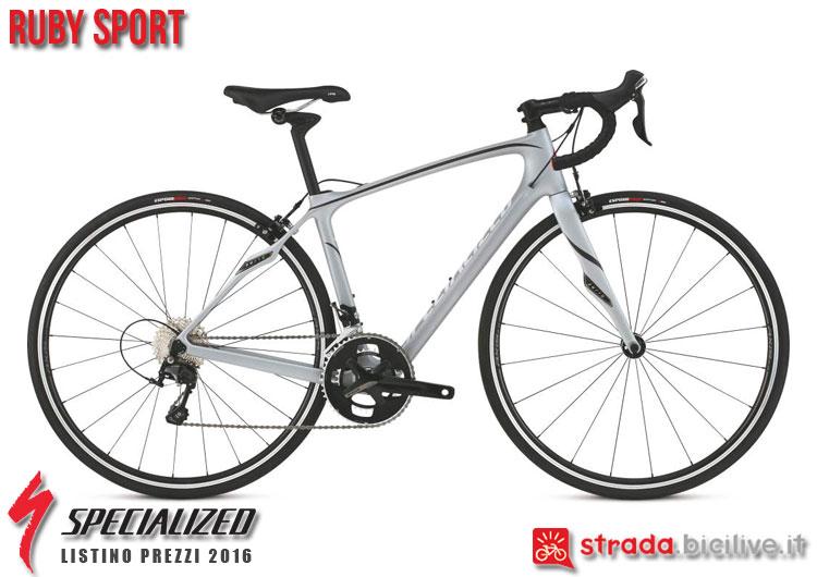 La foto della bici da strada Ruby Sport Specialized sul catalogo e listino prezzi 2016