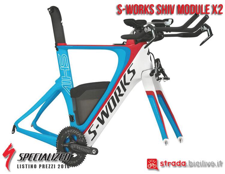 La foto del telaio S-Works Shiv X2 Specialized sul catalogo e listino prezzi 2016