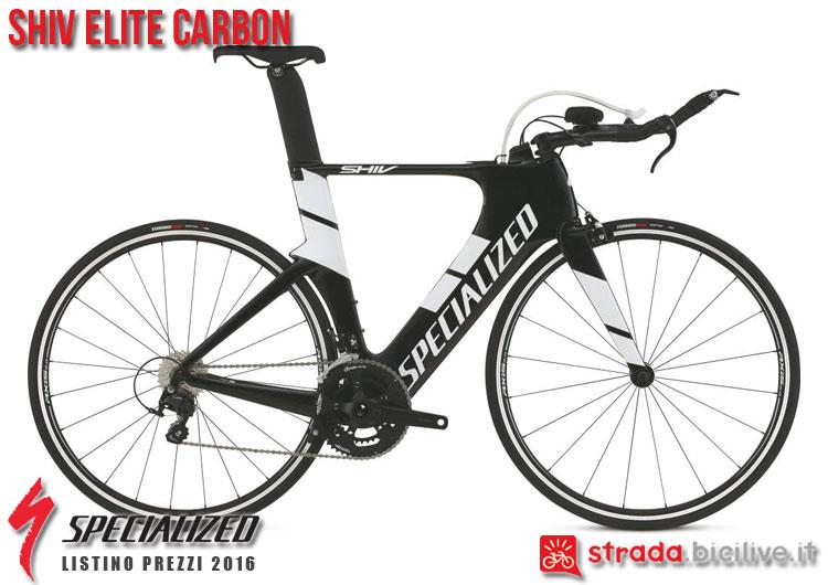 La foto della bici da strada Shiv Elite Carbon Specialized sul catalogo e listino prezzi 2016