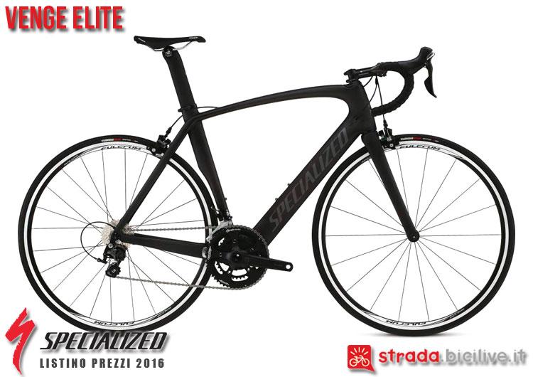 La foto della bici da strada Venge Elite Specialized sul catalogo e listino prezzi 2016