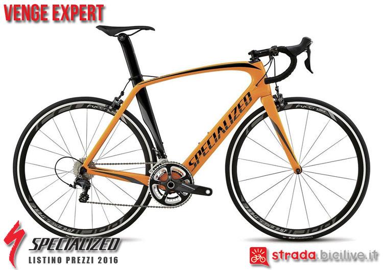 La foto della bici da strada Venge Expert Specialized sul catalogo e listino prezzi 2016