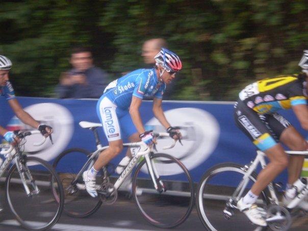 Damiano Cunego ai mondiali di ciclismo a Varese 2008