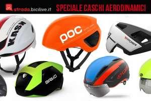 Speciale casco aerodinamico bici da corsa