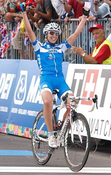 Tatiana Guderzo componente della Nazionale italiana di ciclismo su strada