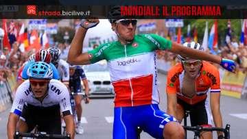 mondiali_ciclismo_programma
