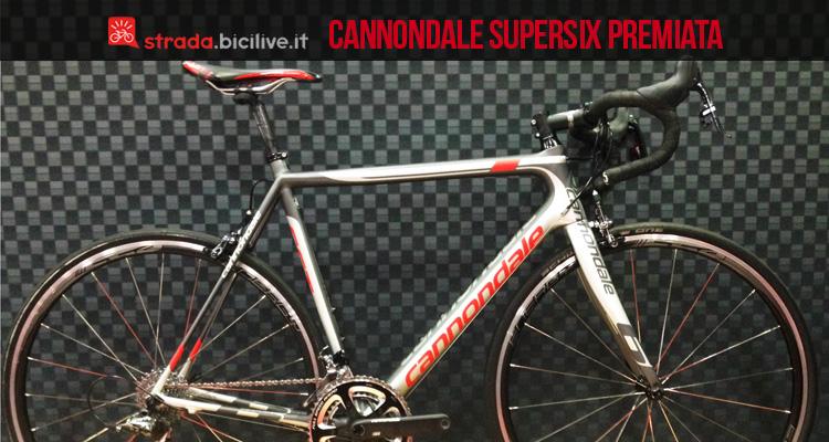 La cannondale supersix evo premiata ad interbike 2015