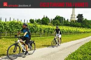 foto di due ciclisti nelle terre del custoza