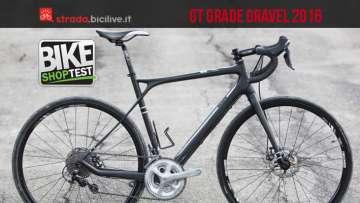 della GT gravel Grade Carbon 105 in versione 2016