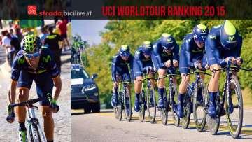 I vincitori dell'UCI WorldTour Ranking 2015: Alejandro Valverde, il Movistar Team e la nazionale spagnola