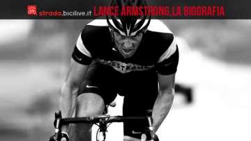 Lance Armstrong sulla sua bici da corsa