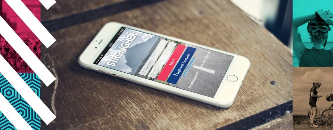 nell'immagine uno smartphone con l'applicazione Strongher
