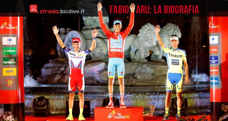 Fabio Aru Biografia Premiazione Vuelta 2015