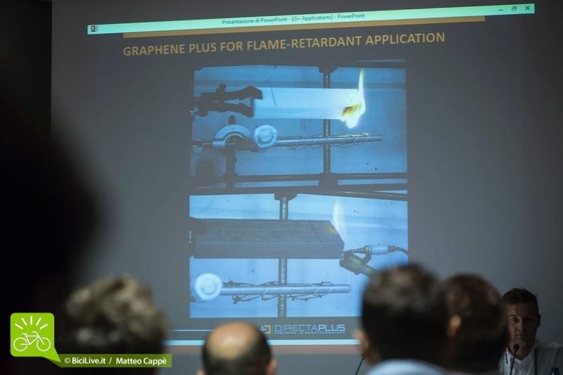 foto di  video dimostrativo della resistenza alla fiamma del grafene