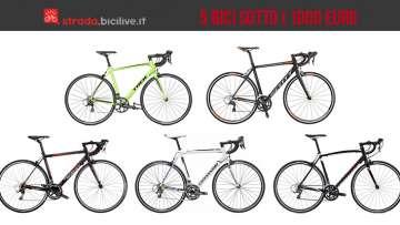 Foto di 5 bici da corsa dal prezzo inferiore ai 1000 euro