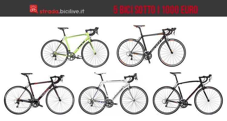 5 bici da corsa sotto i 1000 euro. Black Bedroom Furniture Sets. Home Design Ideas