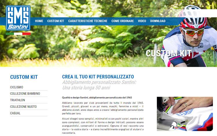 Il negozio online di Santini Maglificio Sportivo