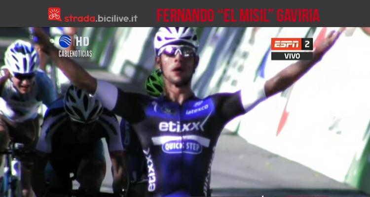 foto di Fernando Gaviria dopo la vittoria allo sprint a Villa Mercedes nella seconda tappa del Tour de San Luis 2016
