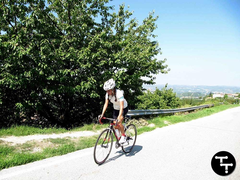 Sofia in bicicletta