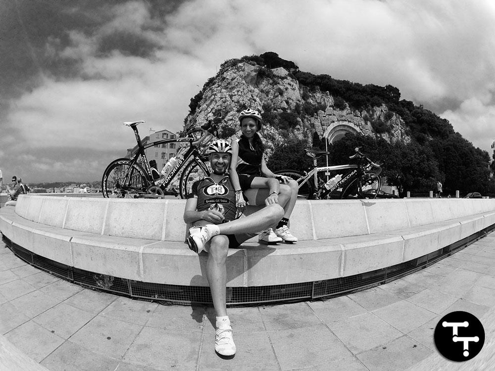 Sofia e Giampaolo di Tacchi e Tacchette con le loro bici