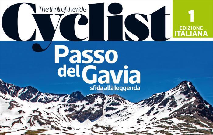 La copertina del primo numero del mensile per ciclisti Cyclist Italia