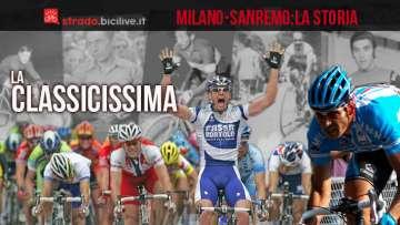 La storia e l'albo della gara di ciclismo Milano-Sanremo