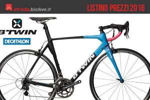Catalogo e listino prezzi 2016 bici da corsa B'Twin