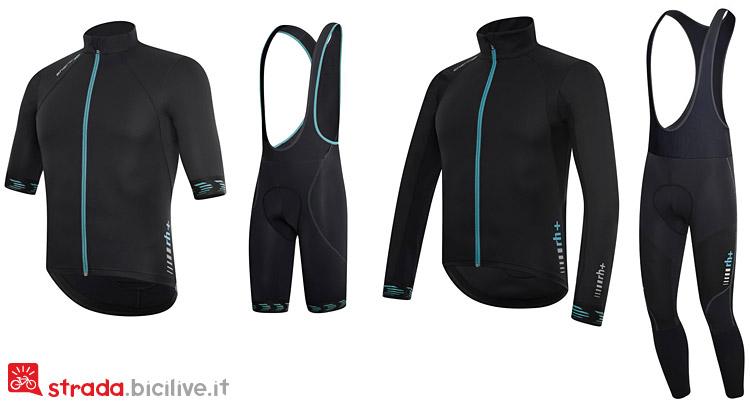Maglie e salopette della linea di abbigliamento invernale da ciclismo Shark di rh
