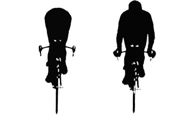 Per migliorare le performance è importante la posizione in bciciletta: ecco l'Area-frontale-resistenza