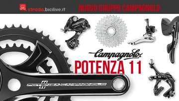 Il nuovo gruppo Potenza 11 prodotto da Campagnolo per le biciclette da strada