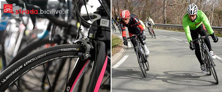 Il test su strada del nuovo pneumatico per bici da corsa di Michelin