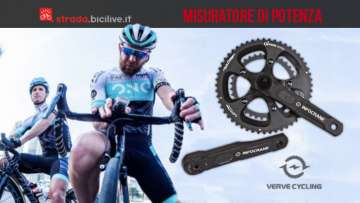 Misuratore di potenza senza magneti Infocranck di verve cycling