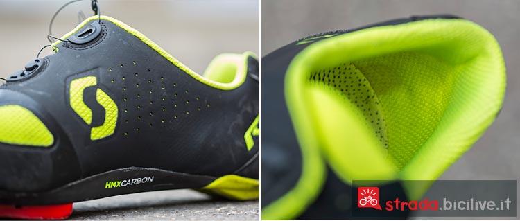 La scarpa da ciclismo Scott Road RC ha inserti in carbonio