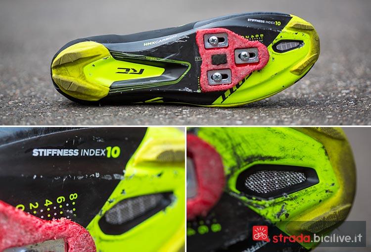 Le scarpe da ciclismo di alta gamma Scott Road RC hanno prese d'aria e inserti in carbonio