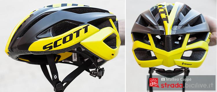 vista laterale e posteriore del casco da ciclismo Scott Arx Plus