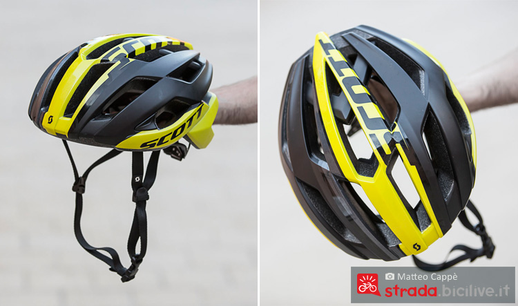 panoramica del casco da ciclismo scott arx plus