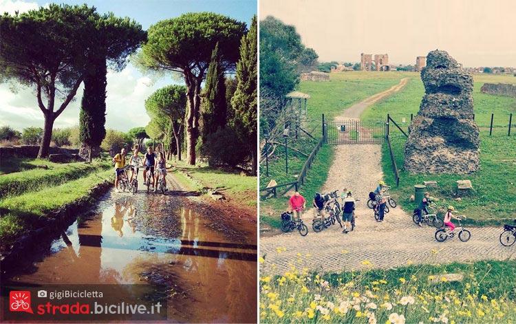 una pedalata lungo l'Appia Antica