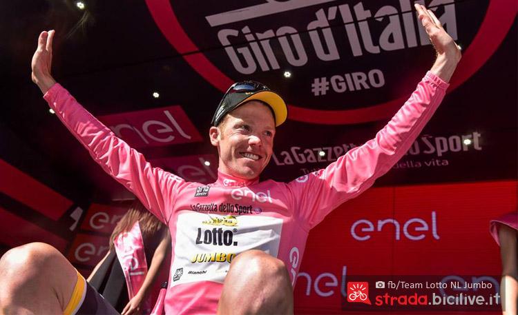 kruijswik maglia rosa al giro d'italia 2016