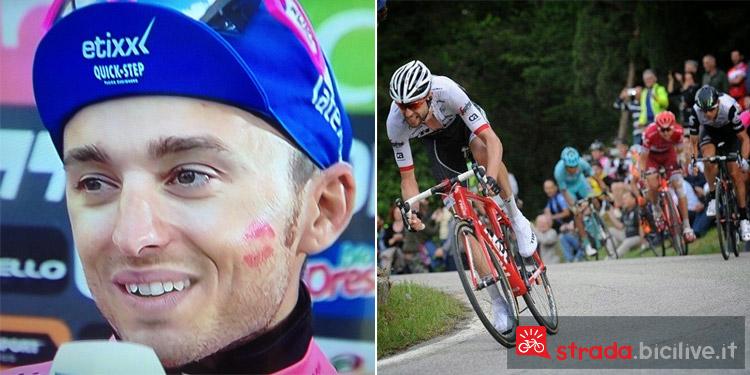 Brambilla e Nibali durante il Giro d'Italia 2016