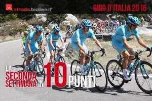 commento alla seconda settimana del Giro d'Italia 2016