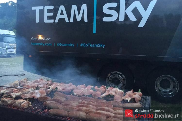 le costolette del team sky durante il giro d'italia 2016