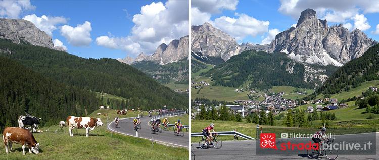il tratto di Corvara della Maratona Dles Dolomites
